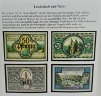 DER SCHÖNE SCHEIN - Notgeld mit Landschaftsdarstellungen, zu sehen in der aktuellen Sonderausstellung